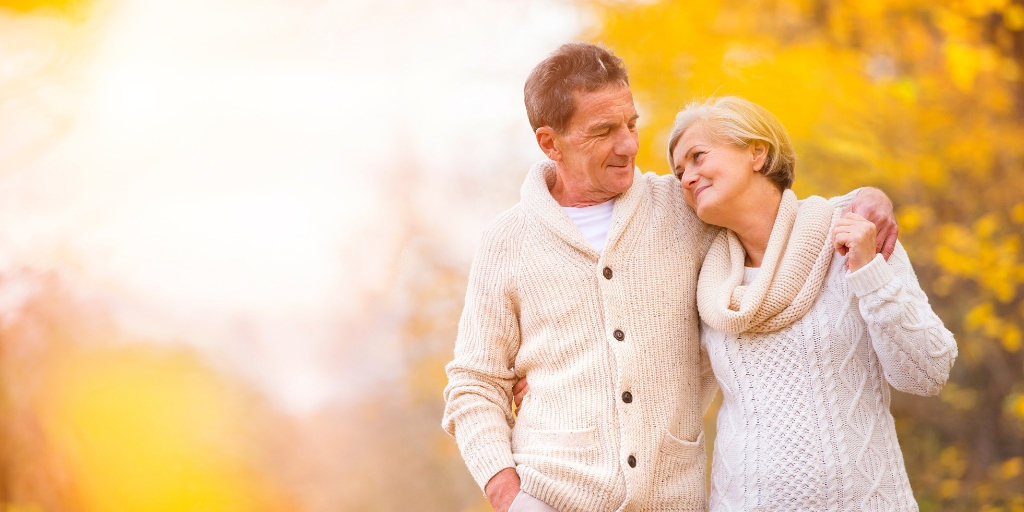 Couple enjoying social security in their retirement